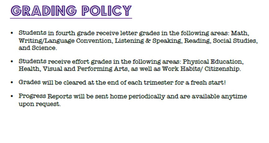 District 204 homework policy