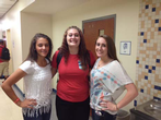 High School Seniors Shaelynn Trejo, Ashton Taylor, and Shae Cottrell start their final year with a smile!