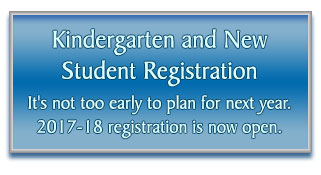 Kindergarten and New Student Registration It's not too early to plan for next year. 2017-18 registration is now open.