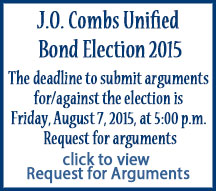 Bond Election 2015 For/Against Arguments Deadline is August 7