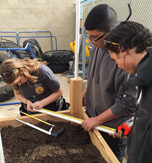 Combs High School Agricultural Science Students Design Greenhouses