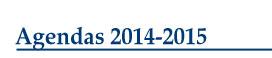 Agendas 2014-2015
