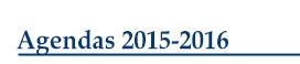Agendas 2015-2016