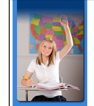 Female Student raising hand