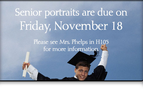 Senior Portraits due November 18