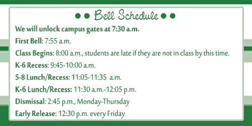 Bell Schedule 2015-2016
