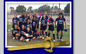 7th grade soccer girls won the Championship