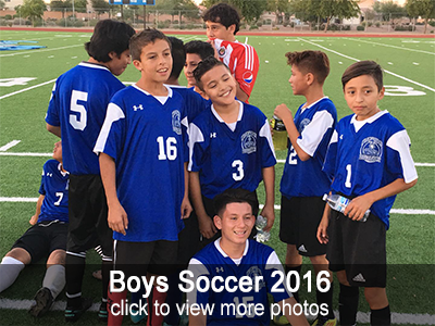 Boys Soccer 2016 Photo Gallery