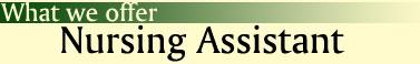 What We Offer: Nursing Assistant