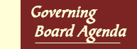Governing Board Agenda