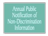 Annual Public Notification of Non-Discrimination Info