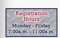 Registration Hours