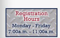 Registration Hours