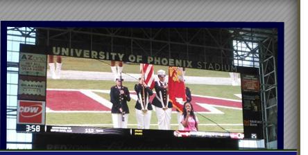 Color Guard Stadium Screen
