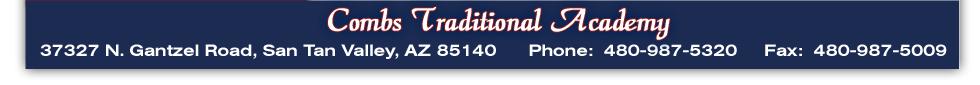 37327 N. Gantzel Rd., San Tan Valley, AZ 85140 Phone: 480-987-5320 Fax: 480-987-5009