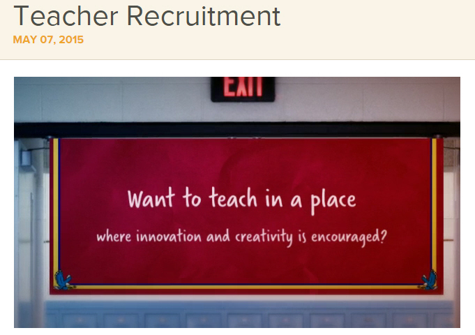 Teacher Recruitment Video