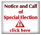 Notice and Call of Special Election