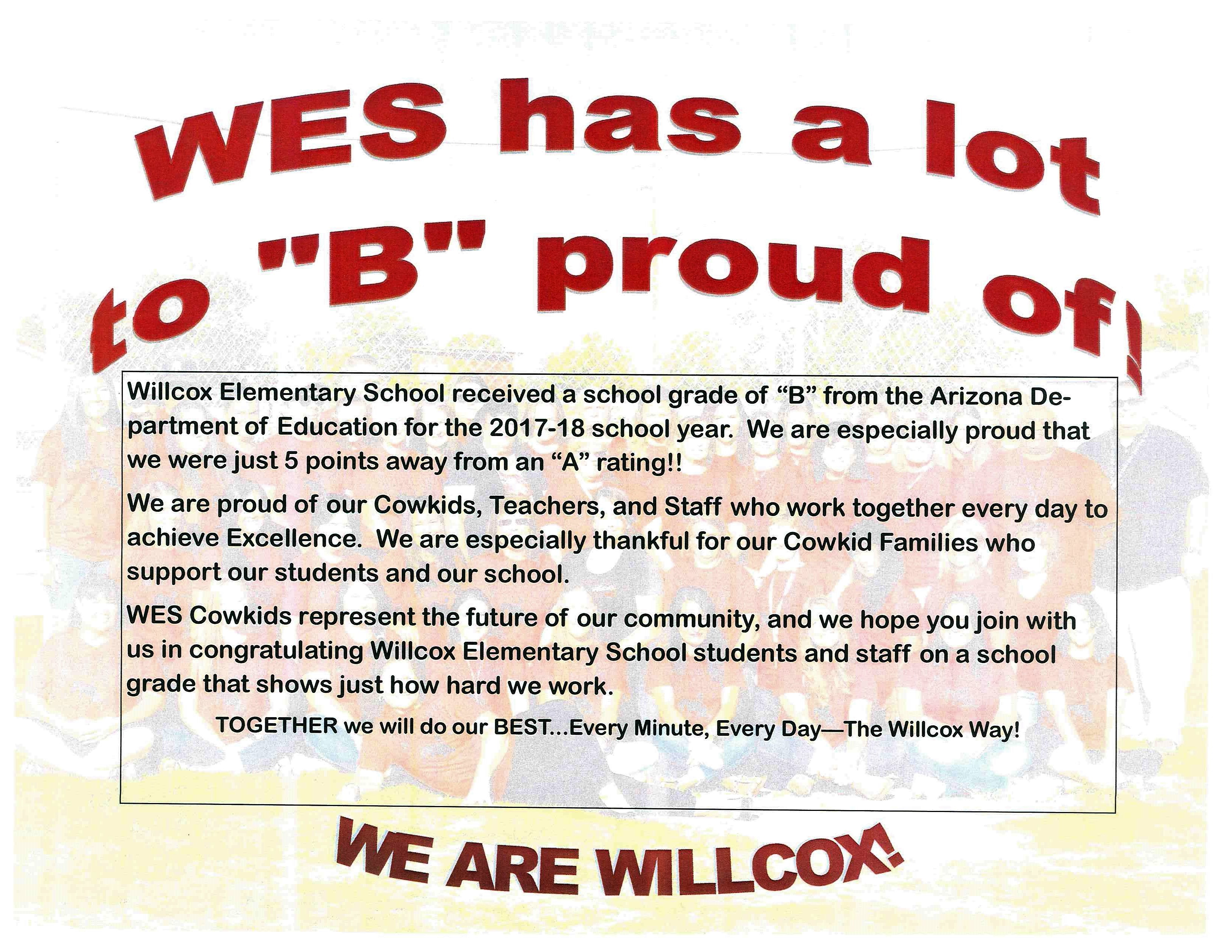 "WES Has a Lot to ""B"" Proud Of!"