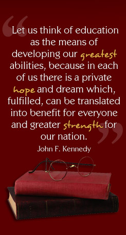 Graphic Quote by John F. Kennedy