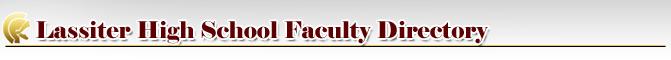 Lassiter High School Faculty Directory