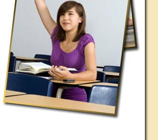 students raising hand