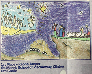 1st Place - Keona Amper, St. Mary's School of Piscataway, Clinton - 6th Grade