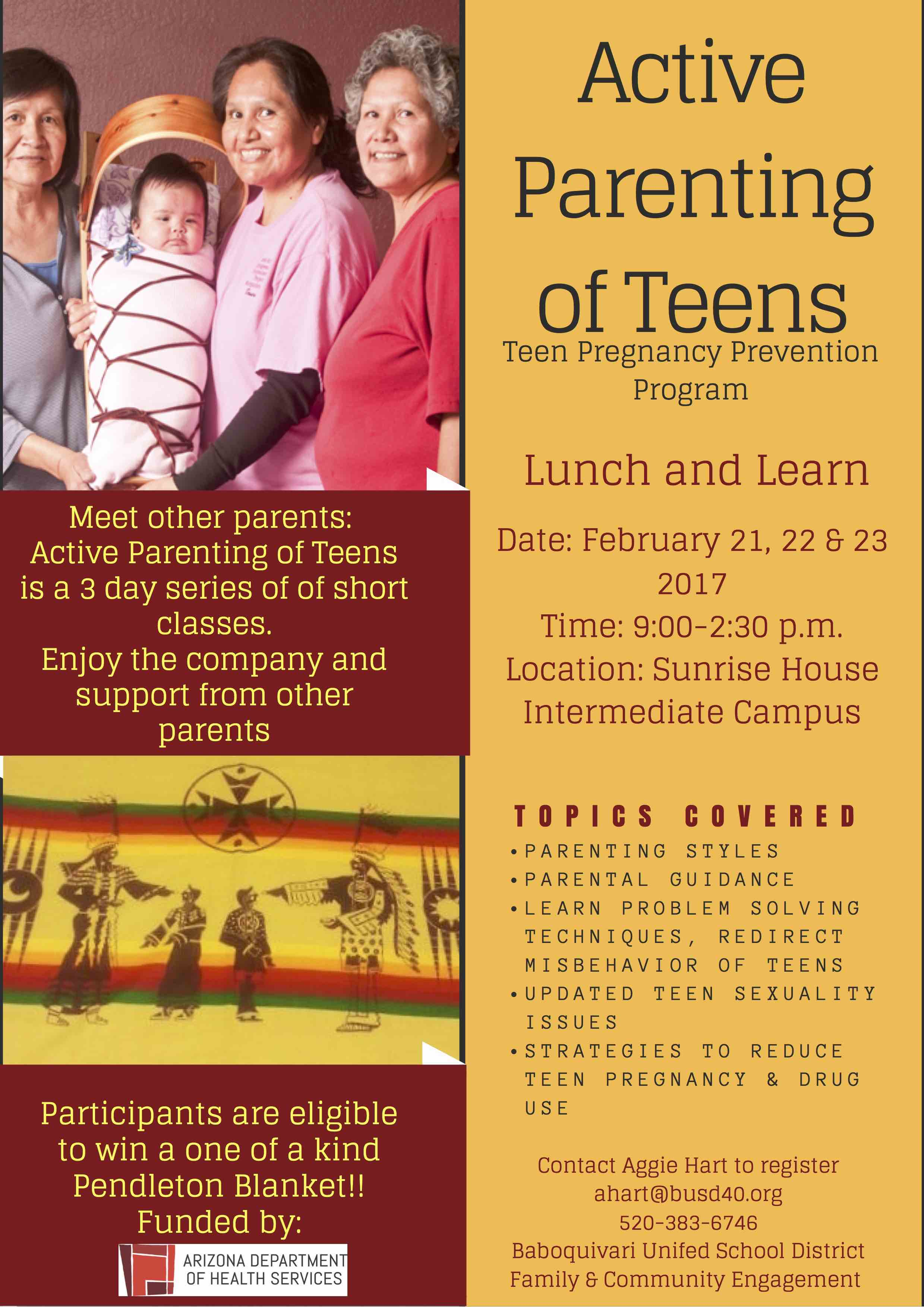 Active Parenting of Teens Flyer