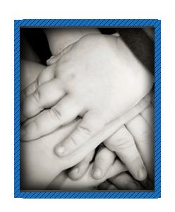 Staff Pledge -  hands overlapping