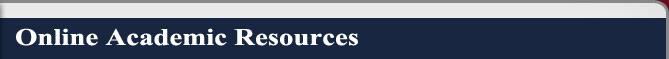 Online Academic Resources