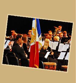 Concert Band with flag