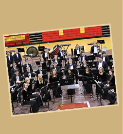 Concert Band group in gym