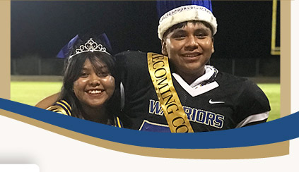 Baboquivari High School and Middle School Homecoming King and Queen