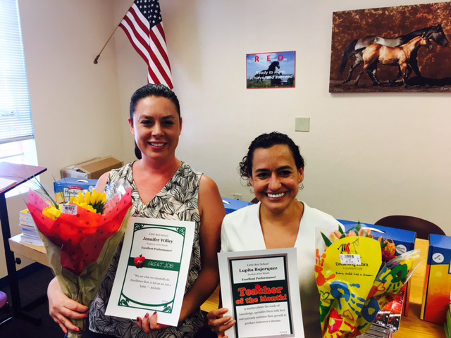 August teacher and employee of the month
