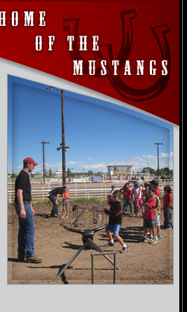 Home of the Mustangs - picture of students