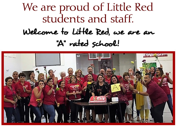 "We are proud of Little Red students and staff. When it comes to education, the best is delivered for our Mighty Mustang students. Welcome to Little Red, we are an ""A"" rated school!"