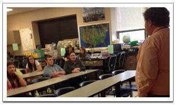 classroom and teacher
