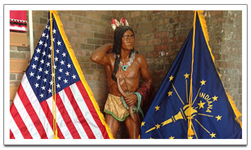 Native American and Flags