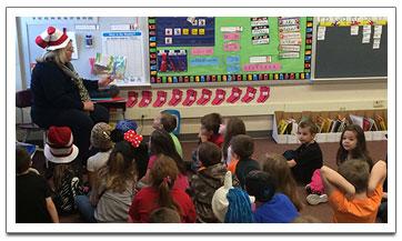Asst. Superintendent Reads to Kindergarteners