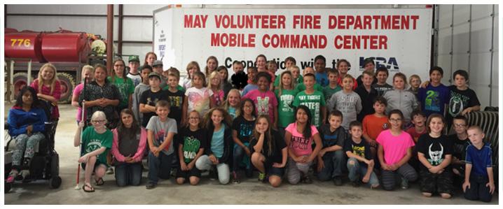 Students at firestation
