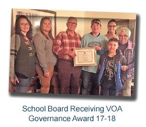 Board receiving VOA Governance Award