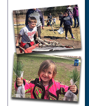 Photos of service project