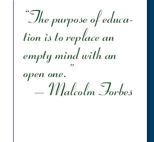 The purpose of an education