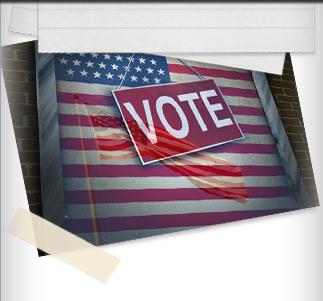 flag, vote