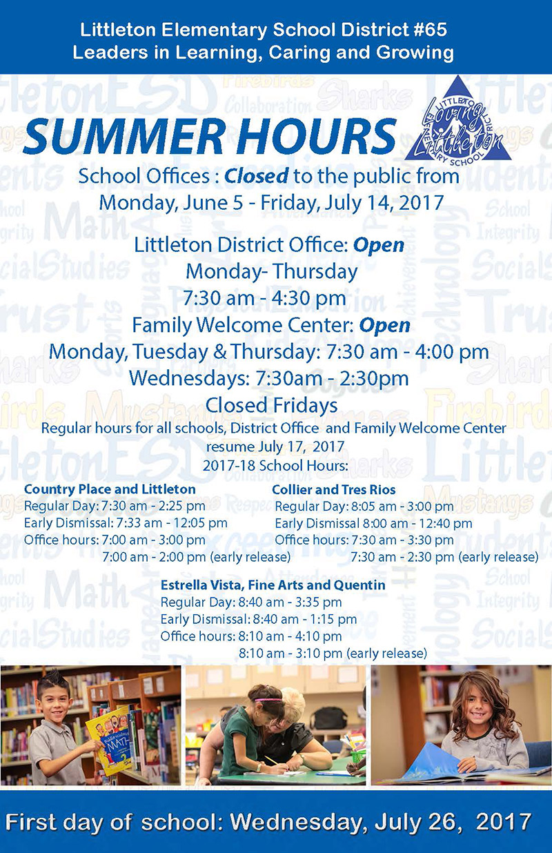 School District Summer Hours