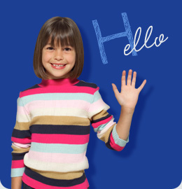 Child Waving Hello