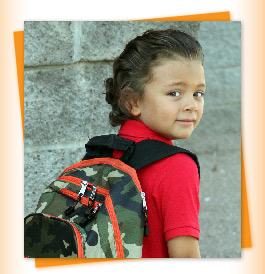 boy wearing backpack