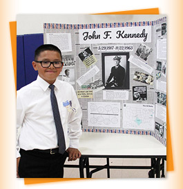 Student with JFK project