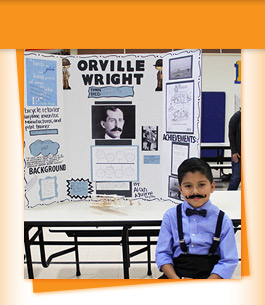 Student with Orville Wright project