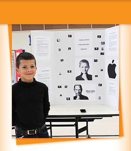 Student with Steve Jobs project