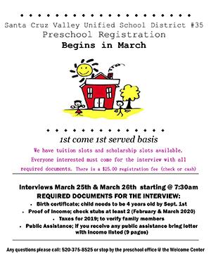 Preschool Registration Flyer